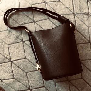 Foley & Corrina Black Drum Bucket Bag
